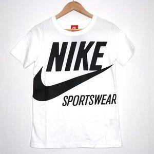 Nike Sportswear Logo Tee T-Shirt Black/White XS